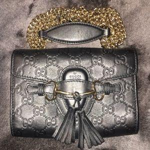 Gucci-Emily guccissima mini black crossbody bag